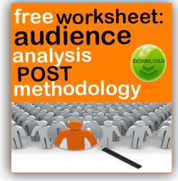 post methodology audience analysis worksheet