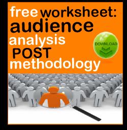 post methodology audience analysis worksheet