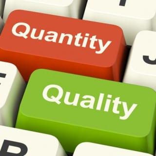 social media quality vs quantity