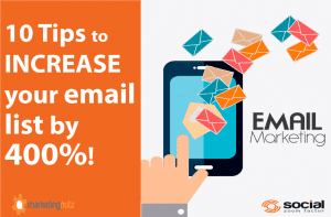 how to grow email marketing list