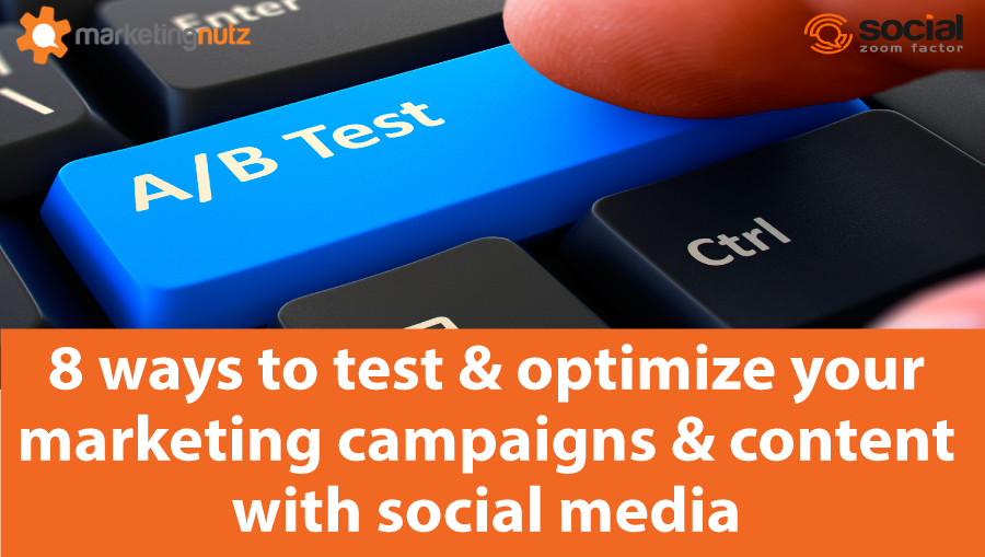 how to use social media to test marketing campaigns, content marketing and programs