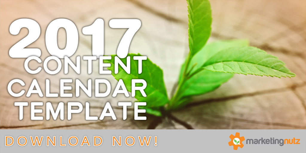 2017 Content Marketing Editorial Calendar Template