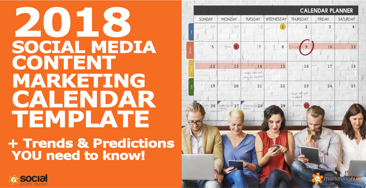 Content Marketing Calendar Template Trends And Predictions - Content calendar template 2018