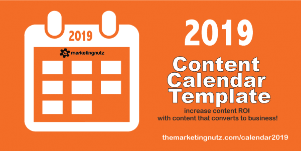 2019 Content Calendar Template Why You Need One
