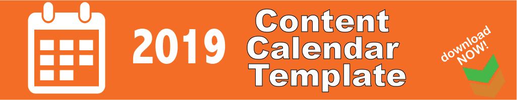 2019 content calendar template social media