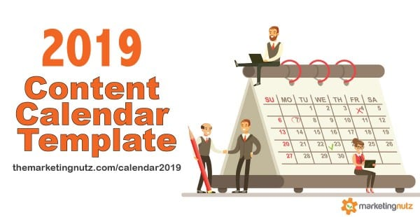 2019 Content Marketing Editorial Calendar Template