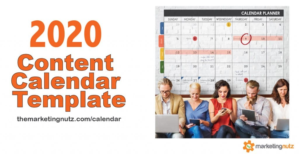 2020 FREE Social Media Content Calendar Template Digital Marketing