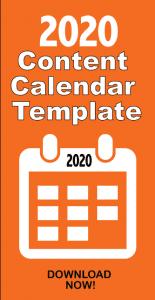 2020 Content Marketing Calendar Template Free Social Media Digital Marketing