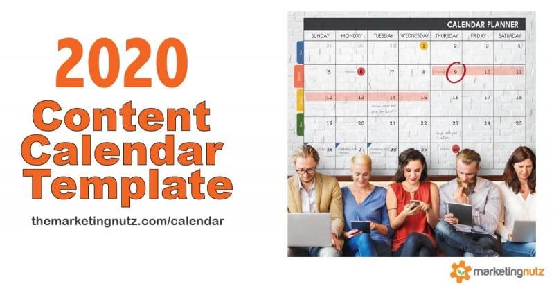 2020 social media content marketing editorial calendar template