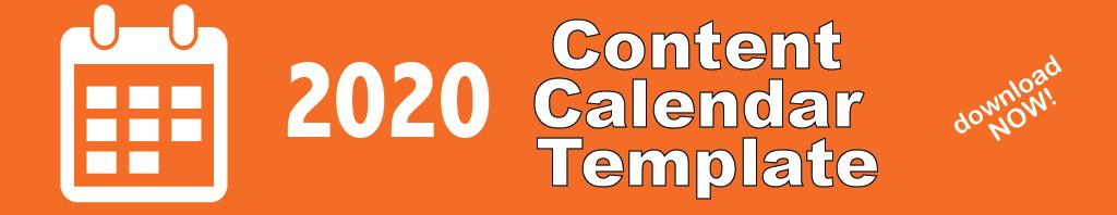 2020 Content Calendar Template