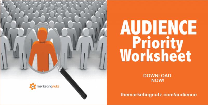 audience first marketing prioritization worksheet