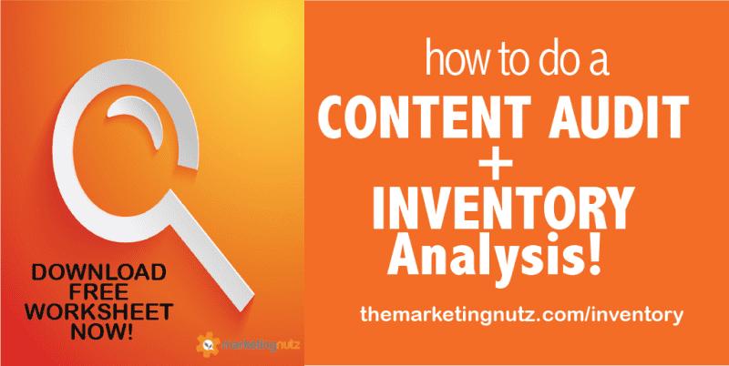content asset audit worksheet content strategy